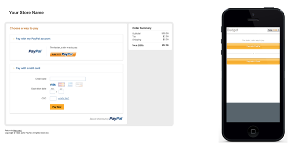Template A PayPal Hosted Pro Solution