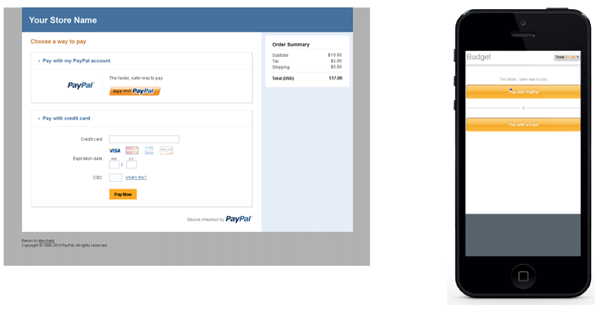 Template B PayPal Hosted Pro Solution