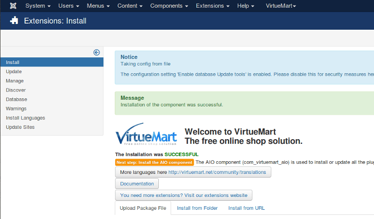 VM3 Installation success